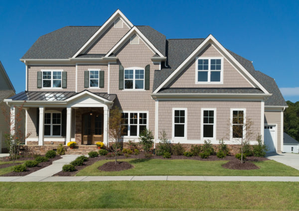 beautiful two story home exterior picture.